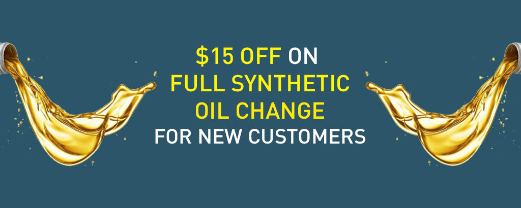 Synthetic oil change offer