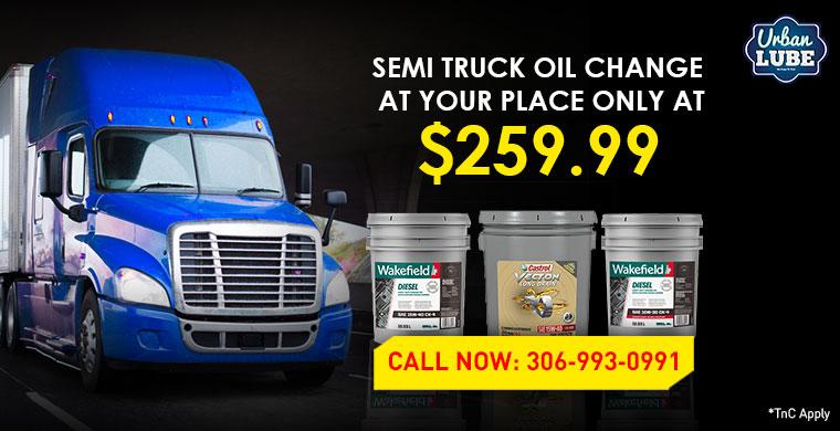 Semi Truck Oil Change